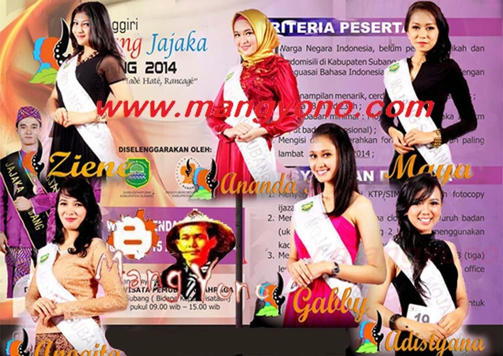 Pasanggiri Mojang Jajaka Subang Tahun 2014