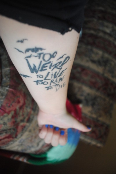 Will knit for cake lovely tattoos for Hunter s thompson tattoos