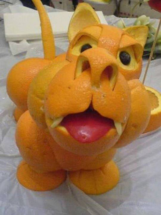 Funny orange carving art 9