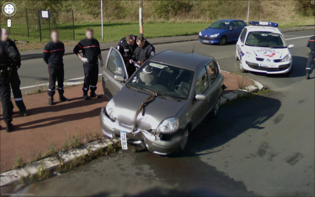 acidente google street view