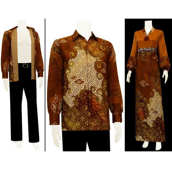 Gamis Batik Couple Semi Sutera Mei 2013 Model Baju
