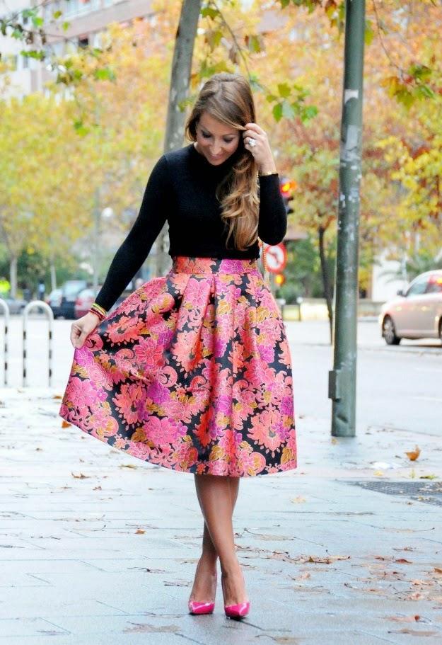El blog de Lorenna: Faldas y vestidos con tela de valenciana