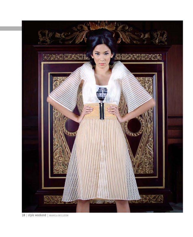 Project nanivon supermodel samantha gomez in modern filipiniana