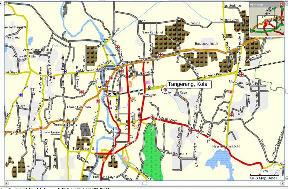 peta Kota Tangerang :