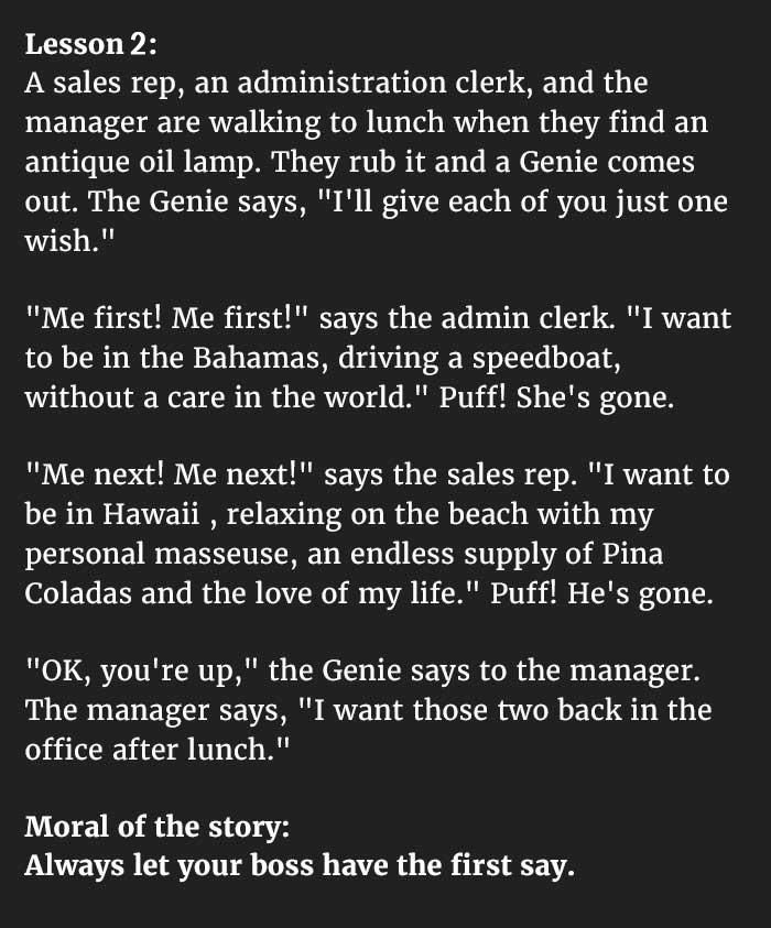 Management lesson 1
