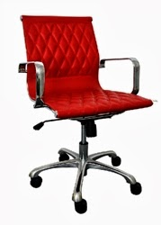 Red Leather Annie Office Chair by Woodstock