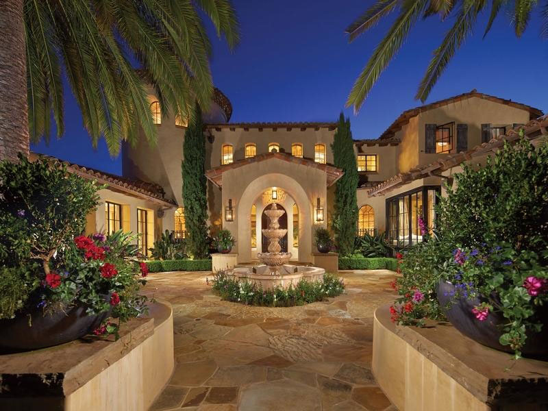 Mediterranean Style Estate In Shady Canyon