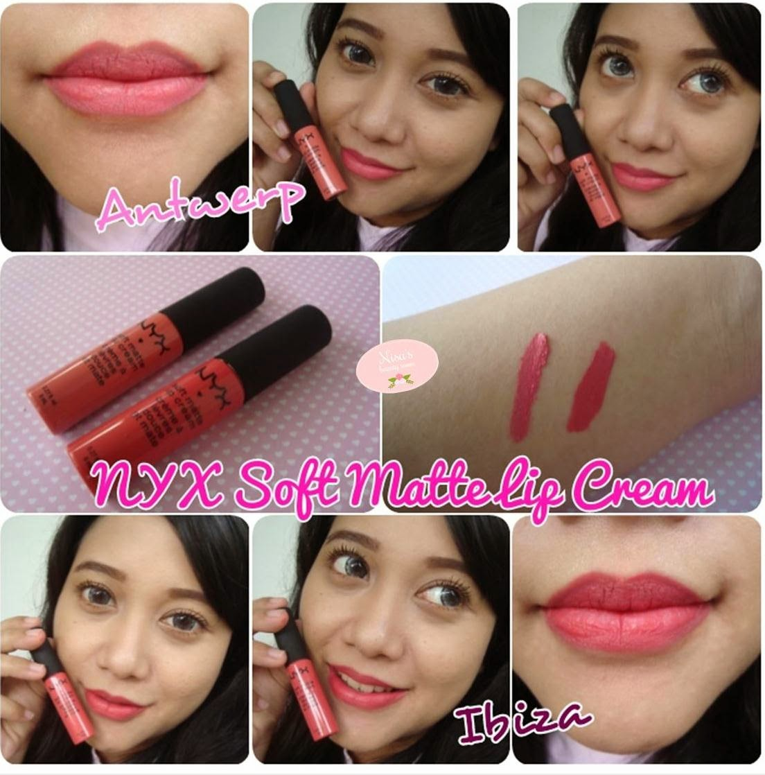 Review NYX Soft Matte Lip Cream Antwerp & Ibiza