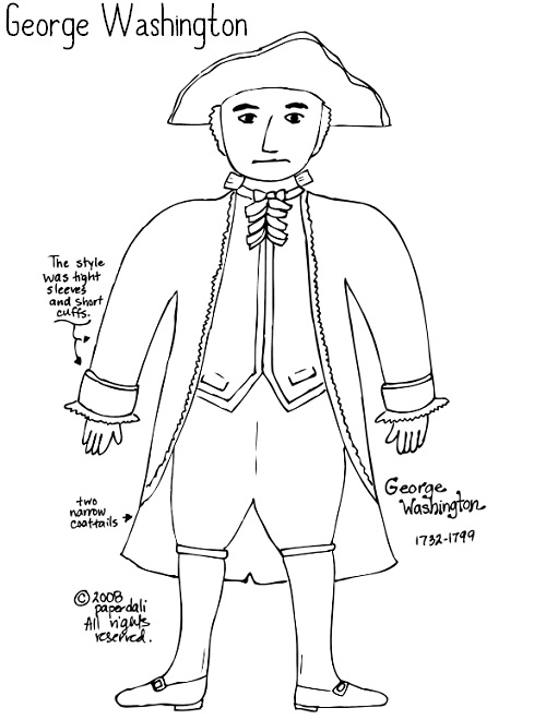 Revolutionary War Coloring Sheets Pdf Coloring Pages George Washington Coloring Page