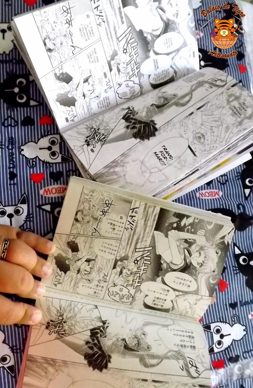 mangá sailor moon brasileiro japones comparação balaio de tigre artesanato