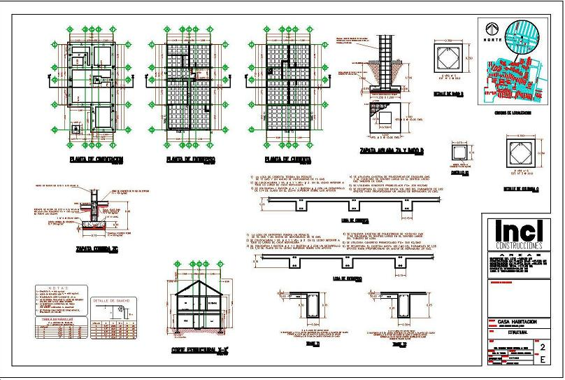 1er curso representaciones de construcci n grupo torroja for Planos de estructuras