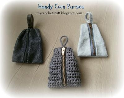 Crochet and Other Stuff: Handy Coin Purse - crochet pattern