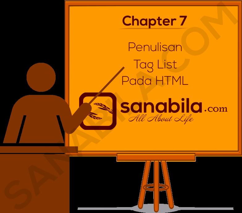Chapter 7. Cara Membuat List Tulisan Pada HTML