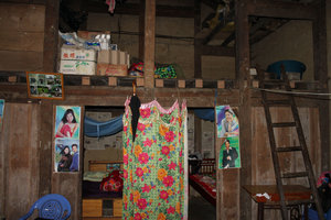 Inside a house of the H'mong people in Đào San