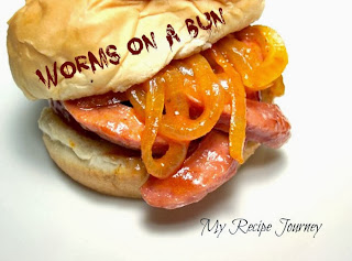 Worms on a Bun - Halloween Food