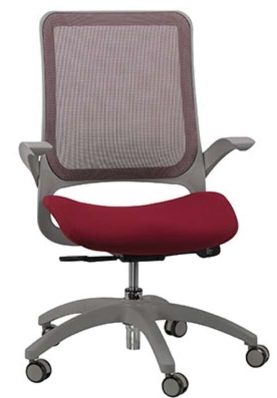 Eurotech Hawk Series Burgundy Mesh Back Chair
