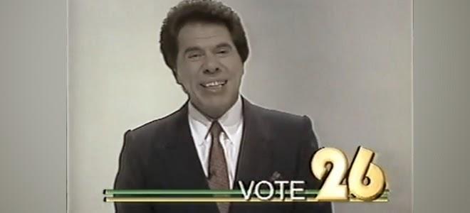 Vídeo de campanha do apresentador e empresário Sílvio Santos à Presidência da República, em 1989.