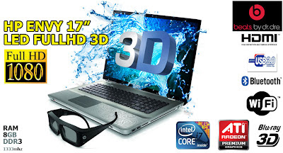 HP ENVY 17 3D Full HD Notebook Digital Multimedia