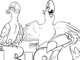 Rio Movie Printable Coloring Pages