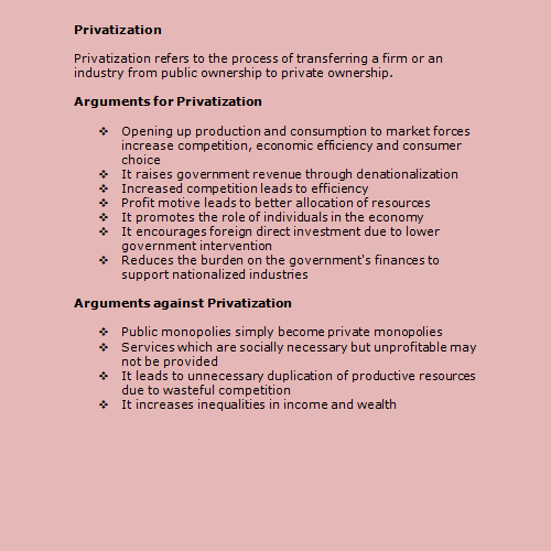 advantages and disadvantages of privatization pdf