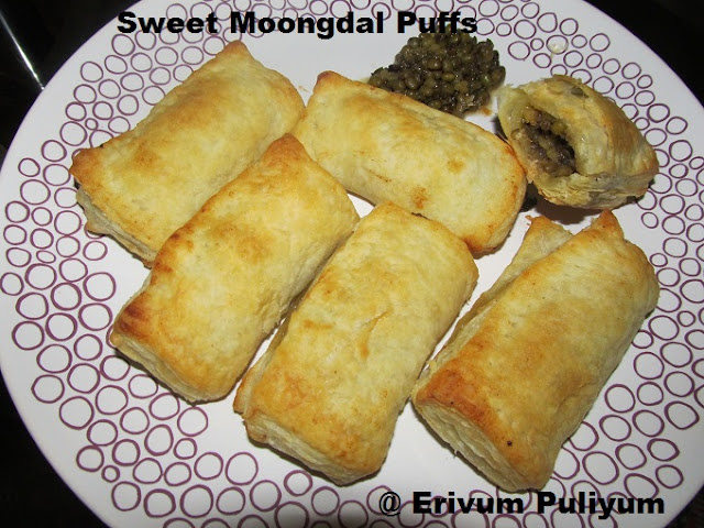 Sweet Moongdal Puffs (healthy snack recipe)