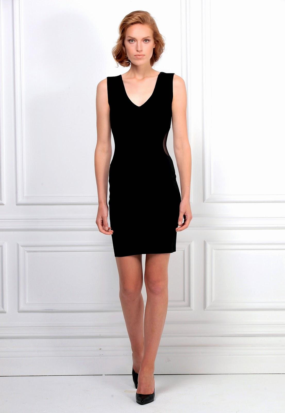 düşük yaka elbise, siyah elbise, kısa elbise, dar elbise, kolsuz elbise, 2015 elbise modelleri,