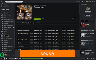 Screenshot of Spotify