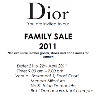Your Invite to the Dior Friends & Family Sale Happening Tomorrow!!