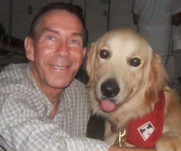 Mark Cohen and his assistance dog 'Happy'