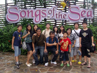 holiday in sentosa island, singapore tour, song of the sea
