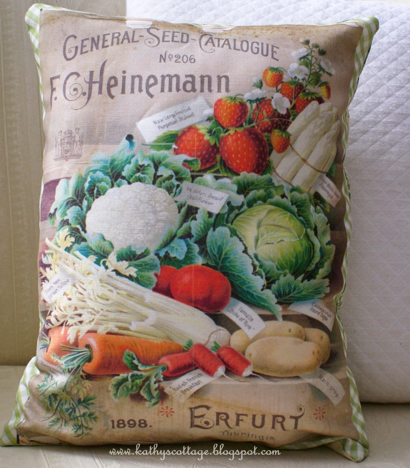 Seed Packet pillow cover