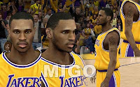 NBA2K12 LA Lakers Cyberface Patches