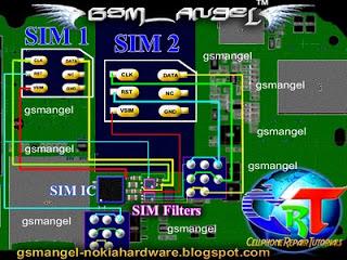 nokia c2 00 dual sim card jumper tracks diagram gsmfixer rh gsmfixer blogspot com