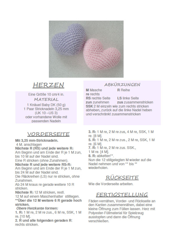 Baby hearts international free knitting patterns for Translation german farcical