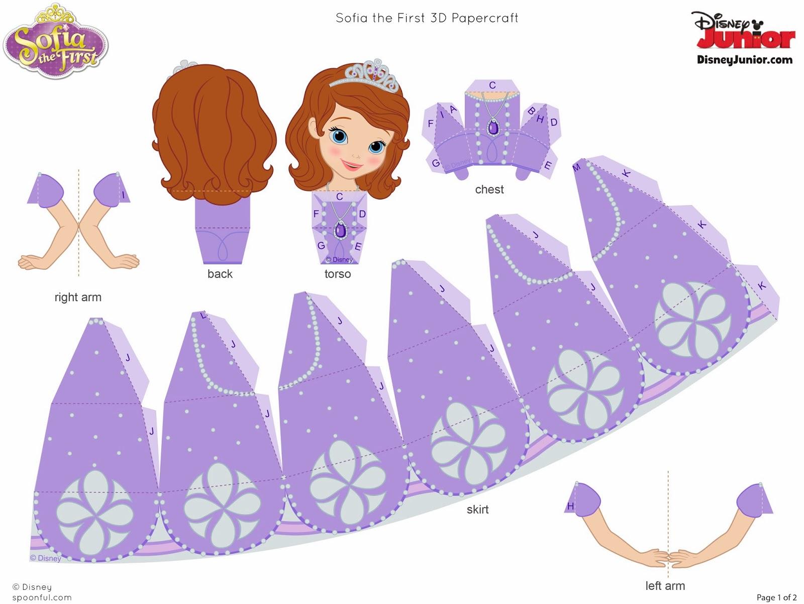 Princesa Sofia Em 3d Para Montar Convites Digitais Simples