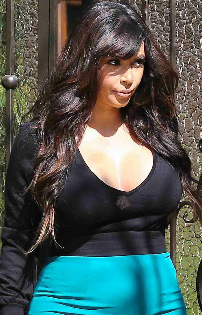 Kim Kardashian Candid In Beverly Hills Home On March 24 2013