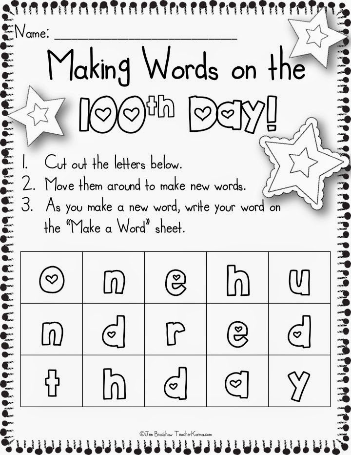 100th Day of School 2015 100th Day of School Freebie