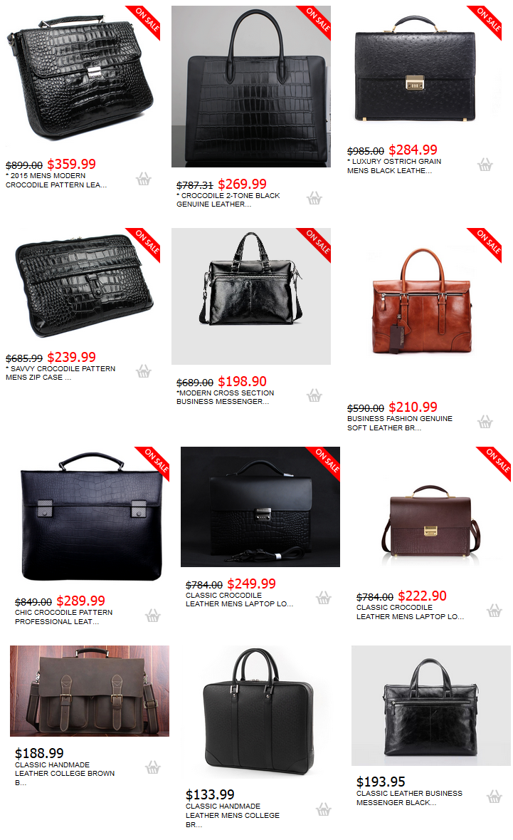 PILAEO Mens Briefcases
