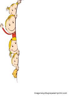 niños en margen de folio