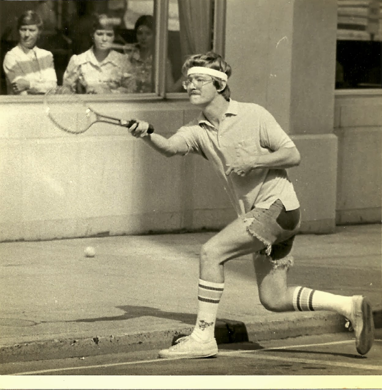 Haircut promotions blacksburg - This Is From A Promotion The Local Daily Did In About 1979 When A Bunch Of Media Types Took To The Streets To Play Tennis In Front Of God And A Bunch