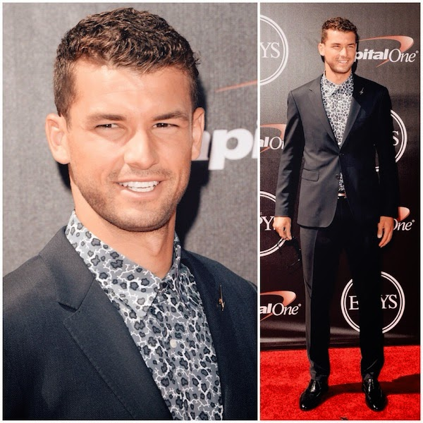 Grigor Dimitrov in Burberry Tailoring at The 2014 ESPYS Nokia Theatre L.A. Live on July 16th 2014 in Los Angeles
