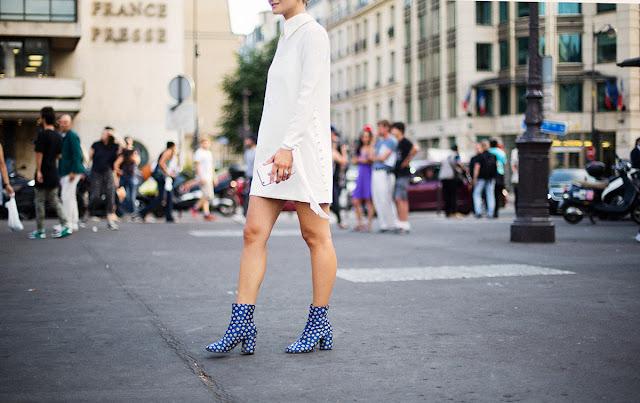 Para ir a lo oficina ¿qué me pongo?vestido blanco y botines de color