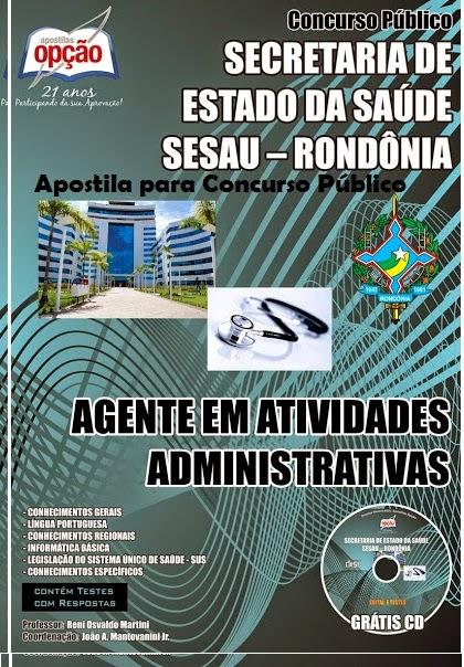 Apostila Secretaria de Saúde/RO pdf 2014