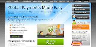 Buka situs Payoneer.com