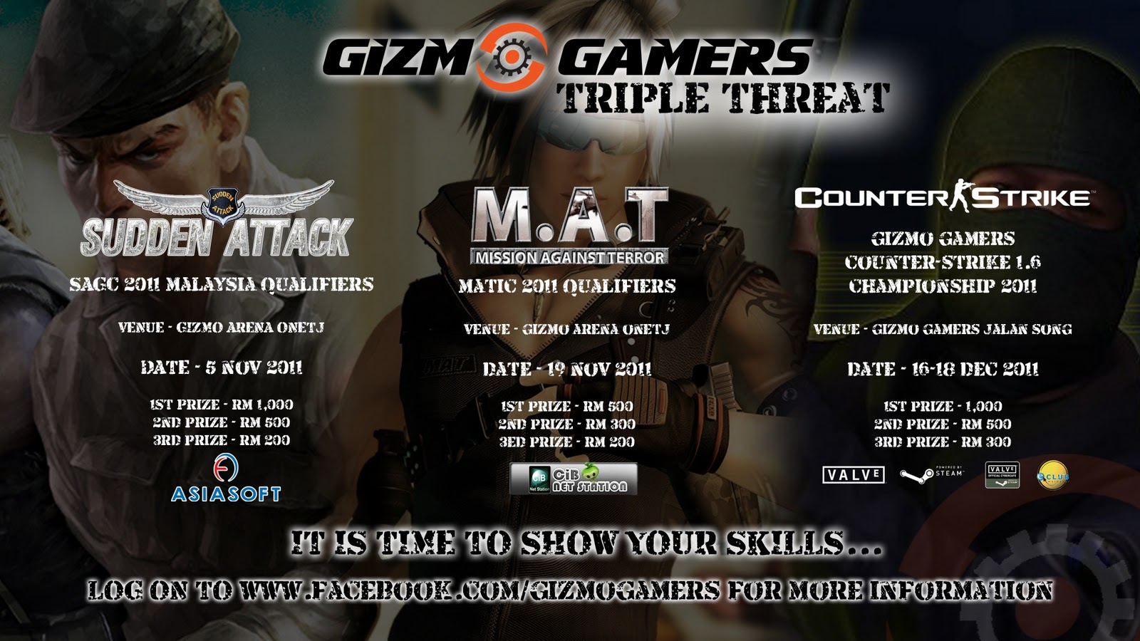 Visit kuching today gizmo gamers triple threat for Home wallpaper kuching