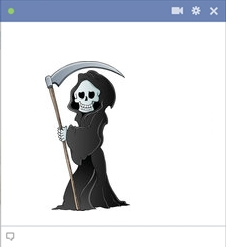 Death with sickle - Emoticon for Facebook