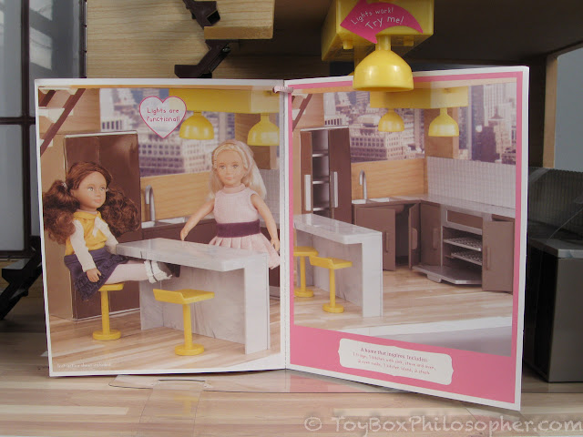 It Looks Like The Dolls Will Be Able To Sit At The Kitchen Island Without  Much Trouble: