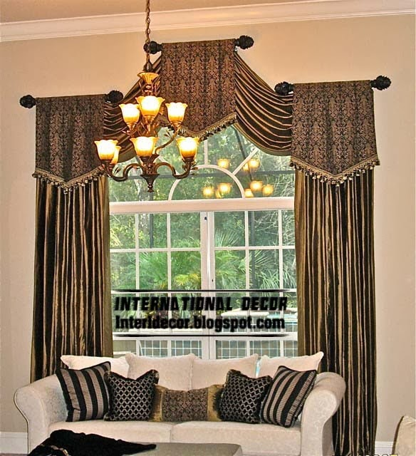 New Luxury Drapes Curtain Designs For Living Room Interior 2014