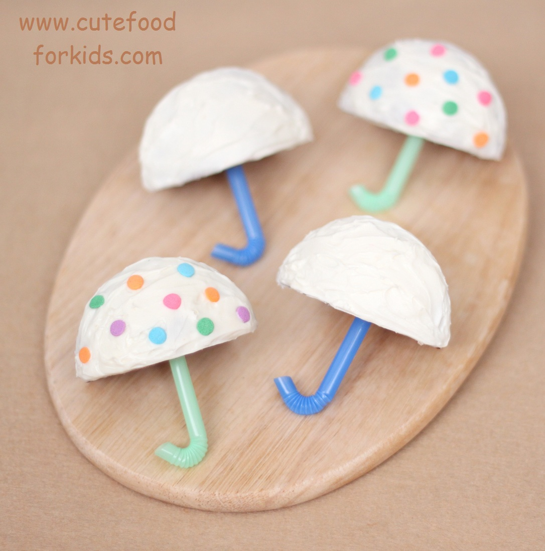 cute food for kids umbrella cupcakes for shower or party