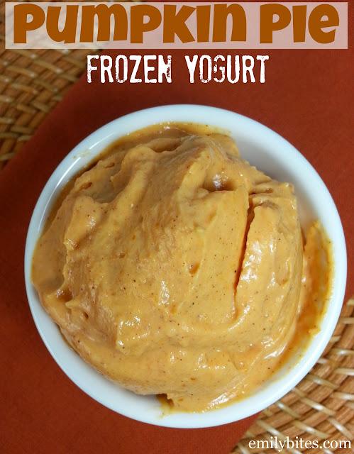 Pumpkin Pie Frozen Yogurt Emily Bites
